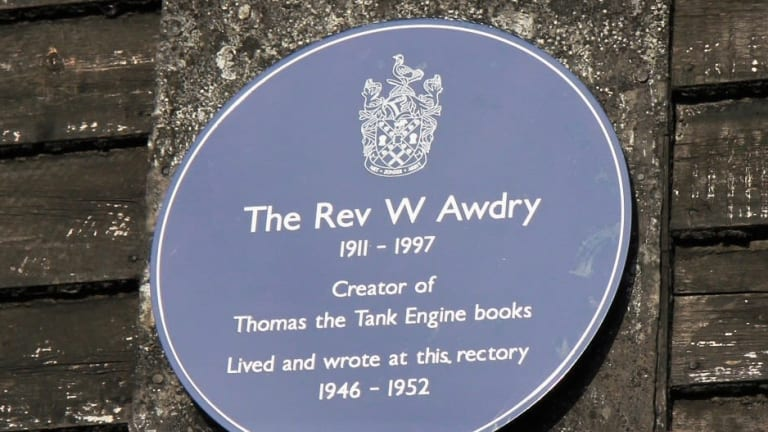 Blue Plaque for Rev W Awdry